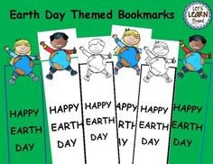Earth Day Activities Bookmarks (Free) Let's Learn S'more!