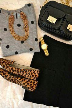 Polka dots and cheetah print? I'm willing...