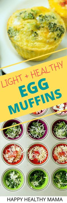 This Healthy Egg Muffin recipe is easy to make with whichever vegetables you like. this is a healthy vegetarian breakfast recipe idea! Great for meal prep and they can be frozen, too! Clean Eating Dinner, Clean Eating Recipes, Easy Healthy Recipes, Free Recipes, Egg Recipes, Light Recipes, Healthy Food, Dessert Recipes, Healthy Eating