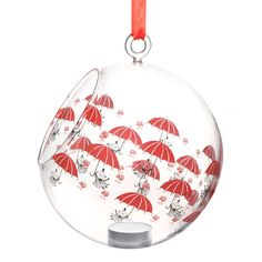 Moomin decoration balls are stylish and a nice way to decorate your home. This one features Little My in red coloring. Place a candle in it and bring the Moomin characters to life.