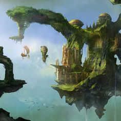 Floating Airships on Floating Islands cover art