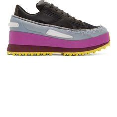 Raf Simons Black adidas Edition Platform Light-Up Sneakers