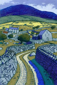 """Bron-Y-Foel"", by Chris Neale (Welsh landscape artist) Landscape Art, Landscape Paintings, Illustration Art, Illustrations, Paintings I Love, Art Paintings, Naive Art, Print Artist, Land Scape"