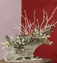 Christmas Sleighs as Table Pieces | My Christmas