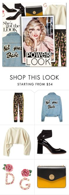 """""""GIRL POWER: Power Look III"""" by vampirella24 ❤ liked on Polyvore featuring Gucci, Uniqlo, Miu Miu, Dolce&Gabbana, Bally and Mor"""