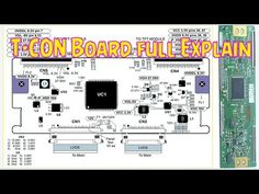 T-CON board full explain in detail Electronics Basics, Electronics Projects, Sony Led Tv, Lcd Television, Lg Tvs, Tv Panel, Electronic Circuit Projects, Electronic Schematics, Tv Services