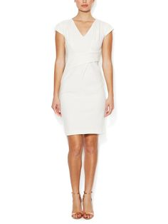 Cotton V-Neck Sheath Dress by Rebecca Taylor at Gilt