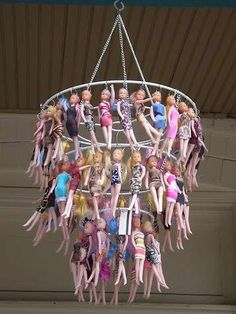 Recycled Toy Lighting - DIY Doll Chandeliers (GALLERY)