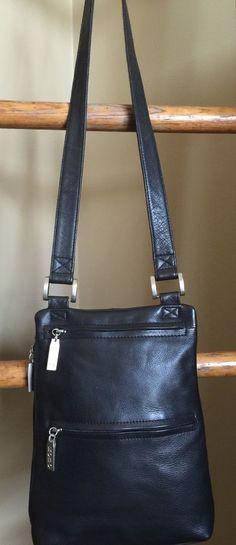 Hobo International Soft Black Leather Slim Shoulder Purse Cross Body Bag | eBay