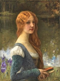 Charles Lenoir, Portrait of a Lady in Lakeside Setting