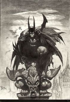 Original Comic Art titled batman rooftop, located in andy's sold simon bisley art (all sold! Simon Bisley, Superman, I Am Batman, Batman Art, Comic Book Artists, Comic Artist, Comic Books Art, Green Arrow, Batman Kunst
