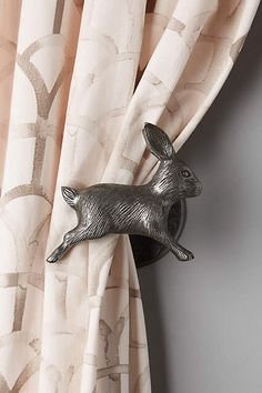 Anthropologie leaping rabbit tie back €50.00 2016 #curtain #home