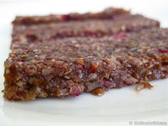 Brendan Brazier's Raw Vegan Cranberry Walnut Energy Bars. These are SUPER quick and easy, are LOADED with nutrients, and taste DELICIOUS!