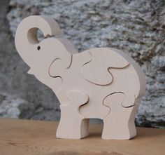 elephant puzzle 5 pieces hetre