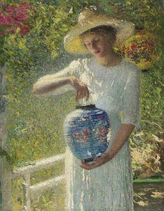 """Girl with Lantern"" (1904) | Helen Marla Turner"