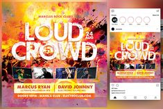 Loud Crowd Flyer by KiraYamato Design Studio on Concert Flyer, Clu, Your Story, Techno, Crowd, Musicals, Flyers, Graphic Design, Studio