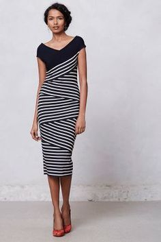 Frenchstripe Column Dress