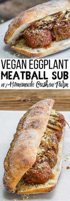 Vegan Meatball | Vegan Sandwich | OIl-free Vegan | Easy Vegan | Caramelized Onions