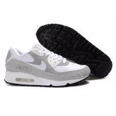 free shipping 90ed9 8b455 Femme Nike Air Max 90 Blanc Gris