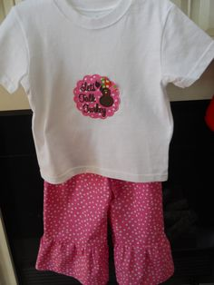 Talk Turkey Applique Pant Set  Size 24M  Like us on Facebook  SOUTHERN BELLES BOUTIQUE   (Make sure you type in all Caps)