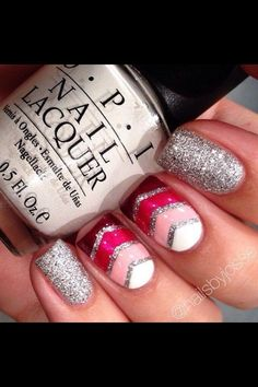 Glitter nails by nicolson.araya