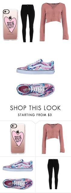 """Untitled #80"" by black-canary7 on Polyvore featuring Casetify and Vans"