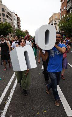 Fotografía de la manifestación del 12M en Madrid realizado por Provisionart