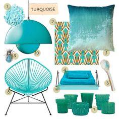 """25 Turquoise Designs"" from Design Sponge"
