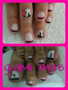 Toe Nail Art, Toe Nails, Nail Designs, Veronica, Diana, Beauty, Work Nails, Yellow Nails, Black Nails