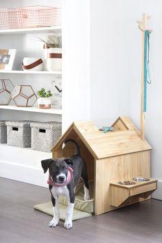 Design Milk Talks to Millennial Designers on Sauder's Design Team Dog House Bed, Dog Bed, Dog Furniture, Animal Projects, Pet Home, Dog Crate, Furniture Manufacturers, Animal House, Dog Houses
