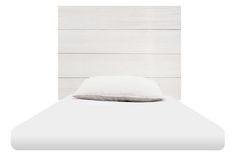 95€ Cabecero 1,05 madera blanca de pino gallego. Acabado pintado de blanco. Para cama individual. Fabricado a mano en España. #Deskontalia #muebles #cabeceros #madera #deco #diseño #pino #galicia #artesano #cama #dormitorio #decoración Deskontalia Productos - Descuentos del 70%