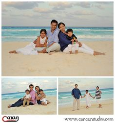 Cancun Beach FAMILY PHOTO SESSIONS - Take advantage on your vacation! - Cancun Studios Photographers