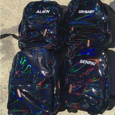 FLASH SALE- KOKO HOLO BLACK TUMBLR BACKPACK ( 70) ❤ liked on Polyvore  featuring bags, backpacks, rucksack bags, holographic bags, holographic  backpack, ... 05adddf7d5
