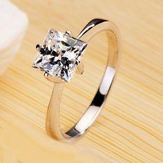 1 Carat Diamond Wedding Ring for Women Custom Engraving
