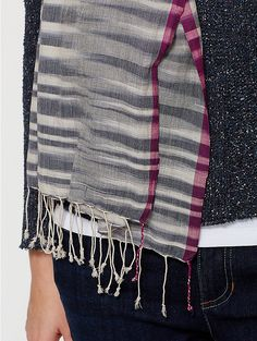 great tonal clasped weft design | eileen fisher