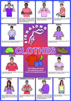 Clothes Signs - BSL (British Sign Language)