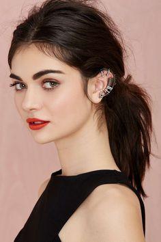 Hayden Crystal Ear Cuff