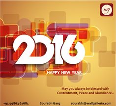 Wall Galleria wishes all of you a very very Happy 2016..