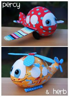 Percy & Herb- by Melly and Me -Airplane/Helicopter Softy Pattern