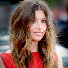 Tousled summer hair by Jessica Biel