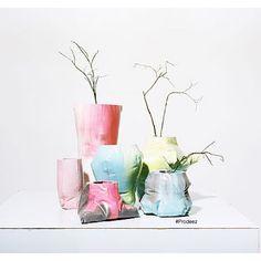 From Prodeez Product Design: Experimental Vases by Lisa Berkert Wallard & Andreas Frienholt. For more info & images visit www.prodeez.com #furniture #vase #creative #design #ideas #designer #lisaberkertwallard #andreasfrienholt #interior #interiordesign #product #productdesign #instadesign #furnituredesign #prodeez #industrialdesign #architecture #style