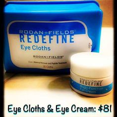 Are you sick and tired of looking #sick and #tired ?  With #AntiAging ingredients and #peptides, #RodanAndFields #REDEFINE #EYECREAM and #EyeCloths are a #DynamicDuo  Message me for discounts or order at   https://jdavis15.myrandf.com/Shop