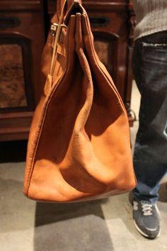 hermes vintage gold ardennes leather 55cm birkin bag