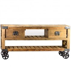 French Rustic Industrial Style Plasma TV Stand. (wish it wasn't so expensive)