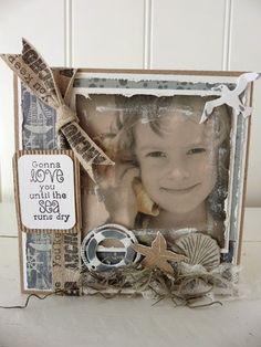 Frame or card it's awesome 't Scrap Ateljeetje: NDO: Beach-Kaartjes Vintage-Style