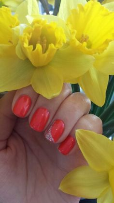 Jessica GELeration Bright Lights with glitter accent. A beautiful #Spring manicure.