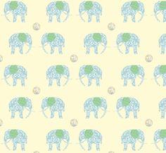 ashleybug elephant fabric