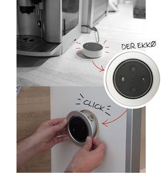 Spielend leichter Einbau eines Amazon Echo Dot :-) Amazon Echo, Smart Home, Dots, Smart House, Stitches