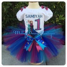 Elsa and Anna Outfit- Elsa and Ana birthday - birthday tutu by MillysDreamBoutique on Etsy https://www.etsy.com/listing/243656038/elsa-and-anna-outfit-elsa-and-ana
