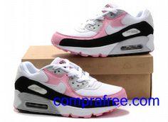 promo code af159 56fa5 Comprar baratos mujer Nike Air Max 90 Zapatillas (color:blanco,rosado,negro